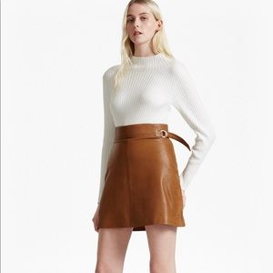 French Connection Goldenberg Leather Skirt